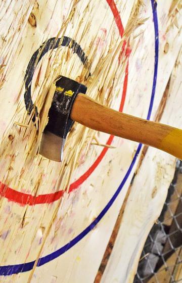 BATL net2phone Canada testimonial, an axe in wood
