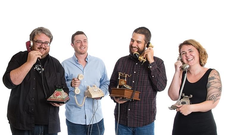 various people on phones