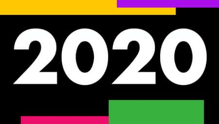 2020 with art block background