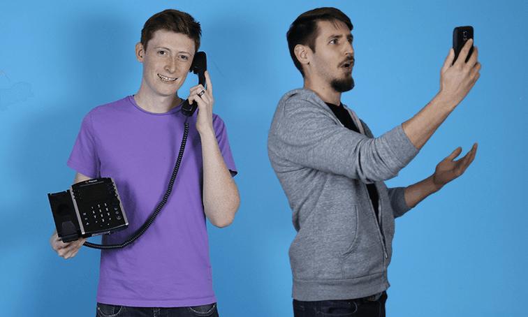 desk phone vs mobile phone