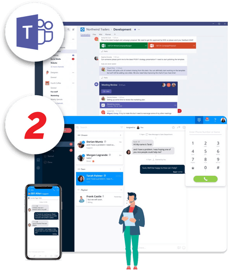 Screenshot of Microsoft Teams net2phone Canada integration - Business VoIP Phone System