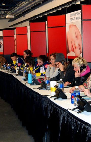 Telethon Sandra Schmirler - net2phone Canada - Business VoIP Phone System