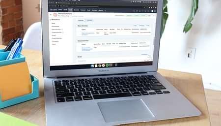 Zoho integration on a laptop screen