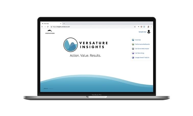 Insights Launch Platform on laptop - net2phone Canada - Business VoIP Phone System