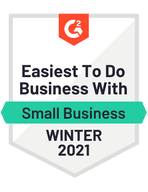 G2 Crowd Badge for Easiest to do Business With for Small Business