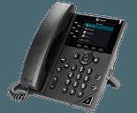 photo of a polycom vvx 350 desk phone