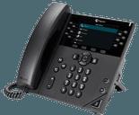 photo of a polycom vvx 450 desk phone