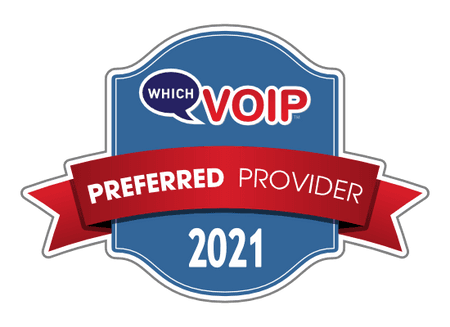 Award banner for which VoIP preferred provider 2021