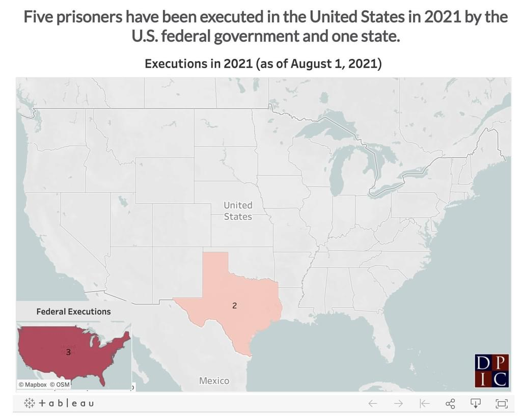 NEWS BRIEF: Seven Months Into 2021, Executions Remain Near Historic Lows
