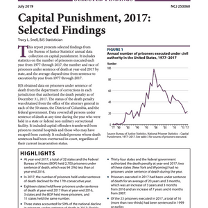 Bureau of Justice Statistics Releases 2017 Data on U.S. Capital Punishment
