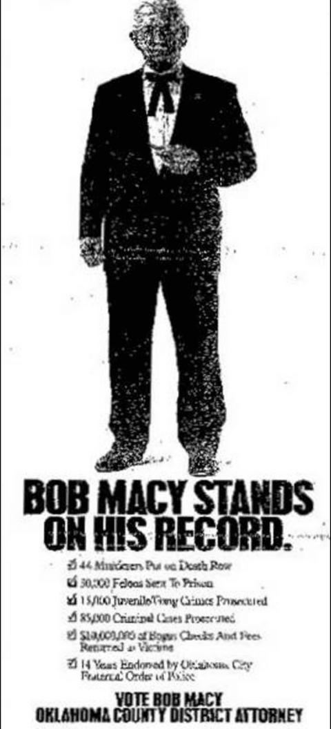 Bob Macy 1994 campaign ad.