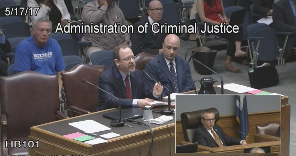 Committee on Administration of Criminal Justice, Louisiana House of Representatives: Testimony on HB 101–Eliminating the death penalty for offenses committed on or after August 1, 2017