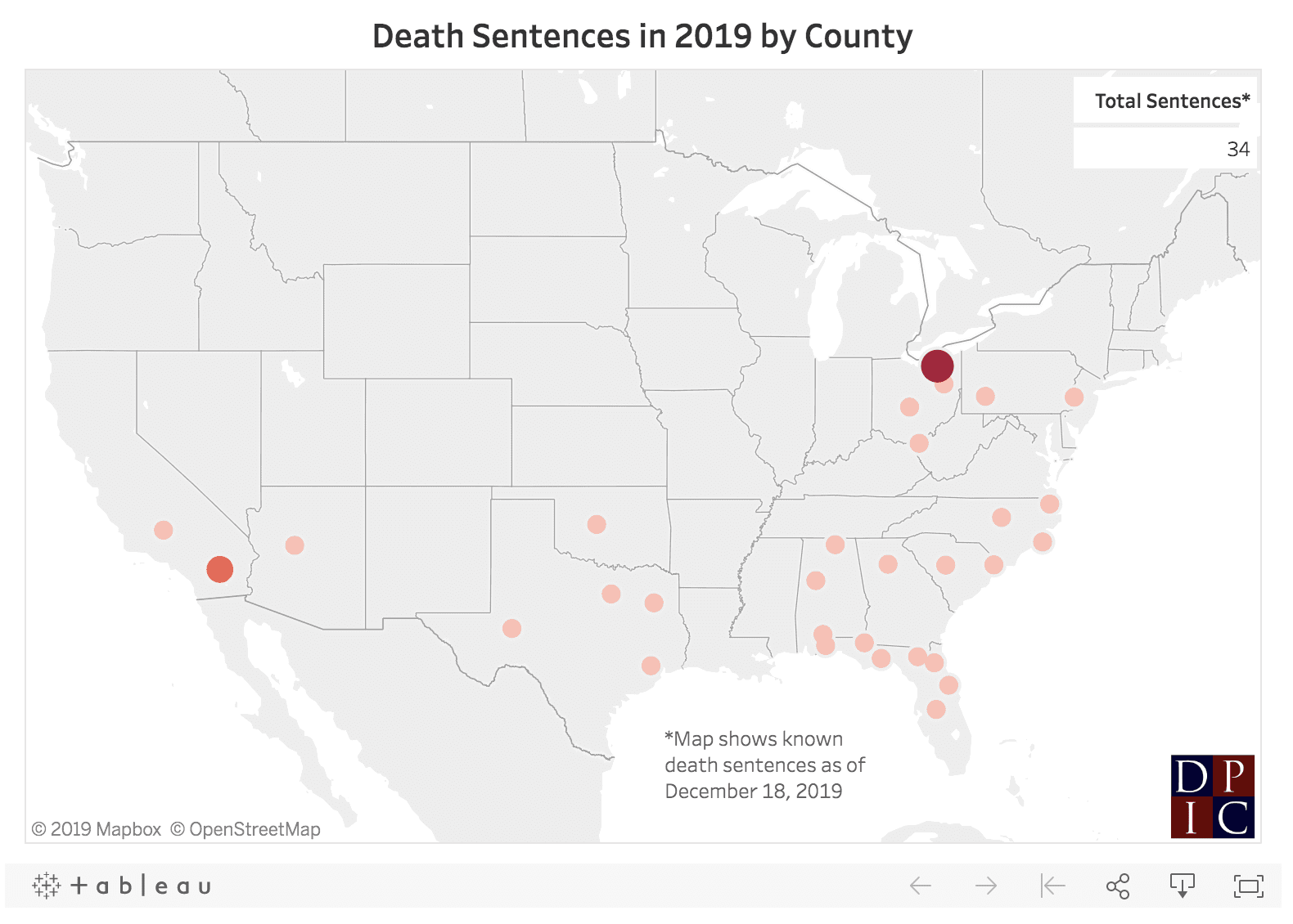 DPIC Analysis: Death Penalty Erosion Spreads Across the Western United States in 2019
