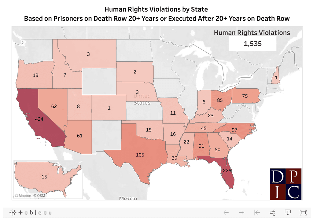 DPIC Report—At least 1,300 Prisoners are on U.S. Death Rows in Violation of U.S. Human Rights Obligations
