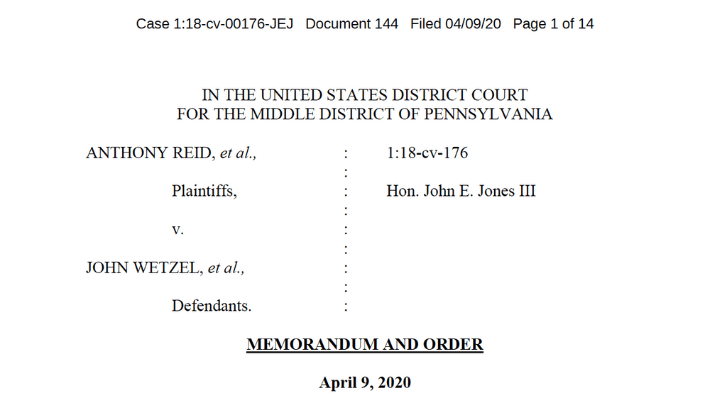 News Brief — Federal Court Approves Settlement Ending Mandatory Solitary Confinement of Pennsylvania Death-Row Prisoners