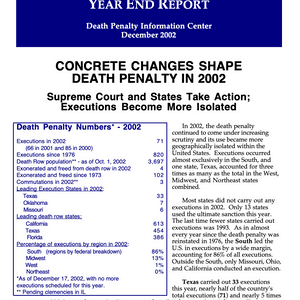 The Death Penalty in 2002: Year End Report