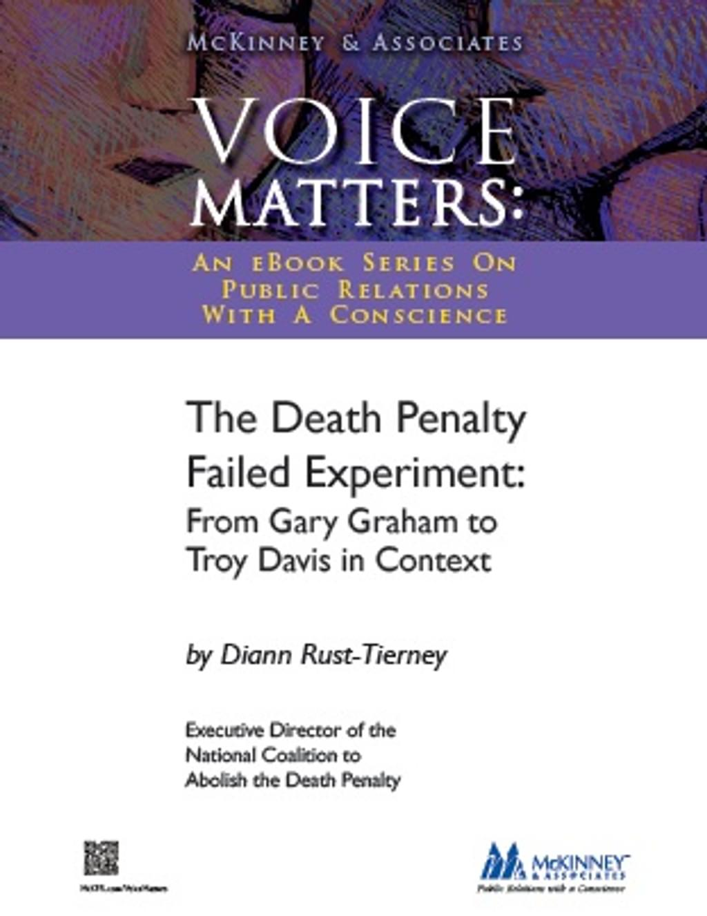"""BOOKS: """"The Death Penalty Failed Experiment: From Gary Graham to Troy Davis in Context"""""""