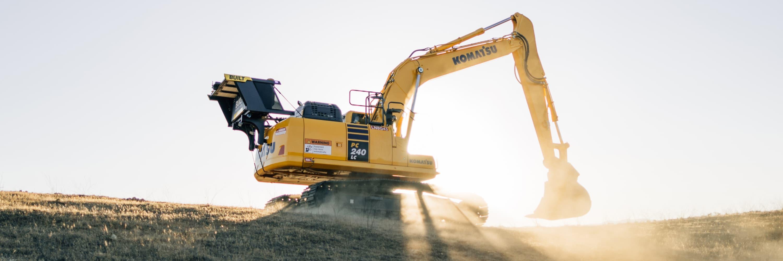 Excavator exosystem digging short