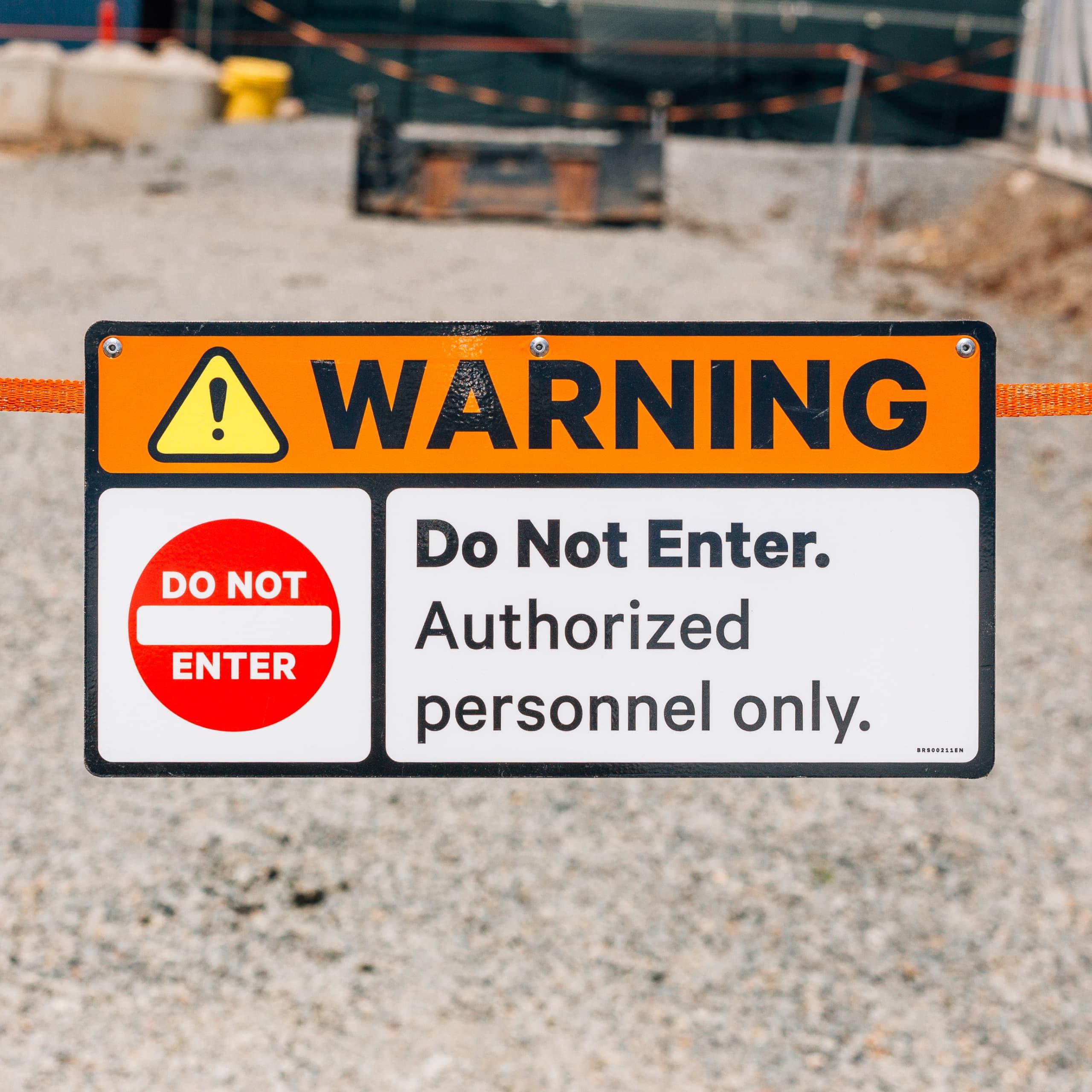 Field kit safety sign