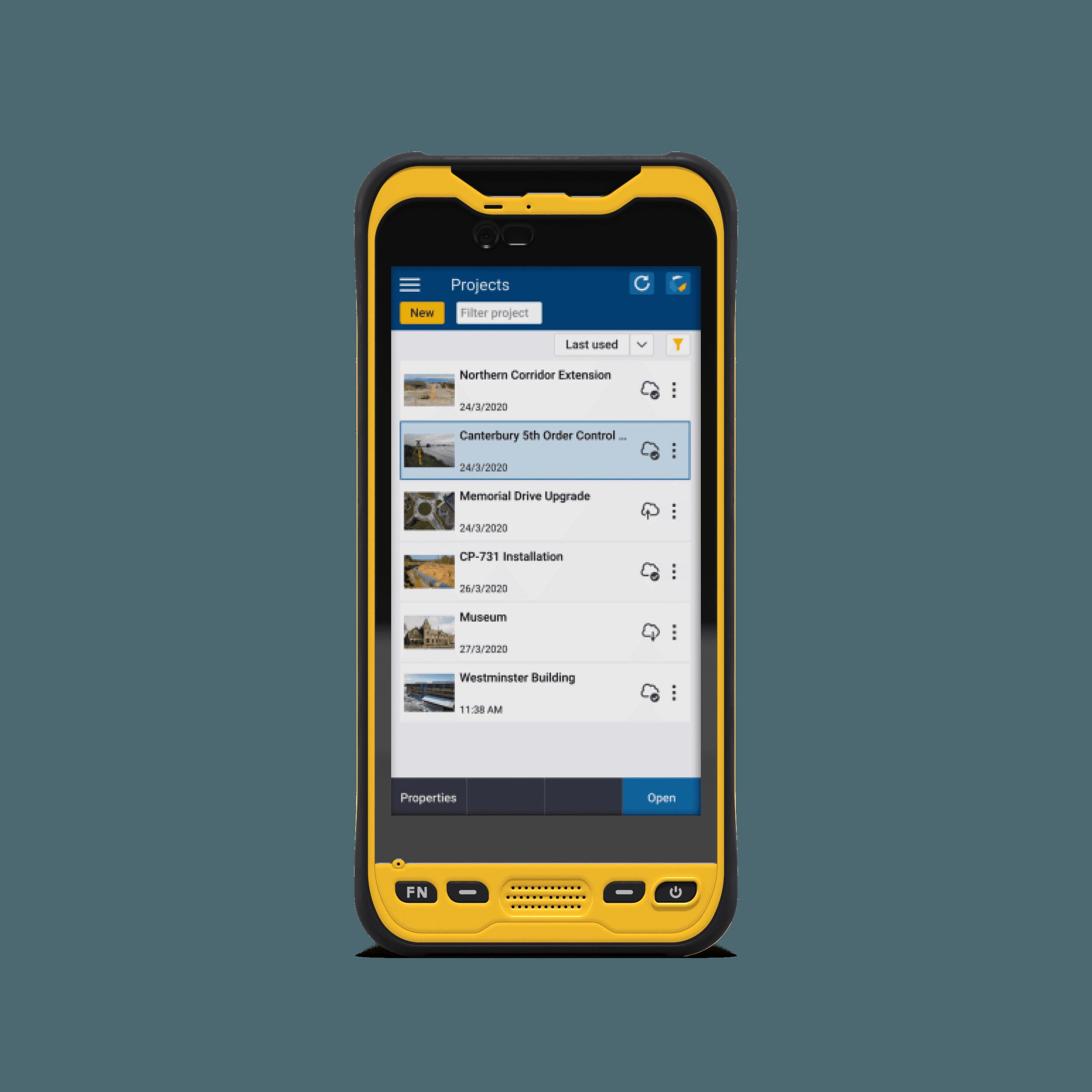 Field kit trimble phone