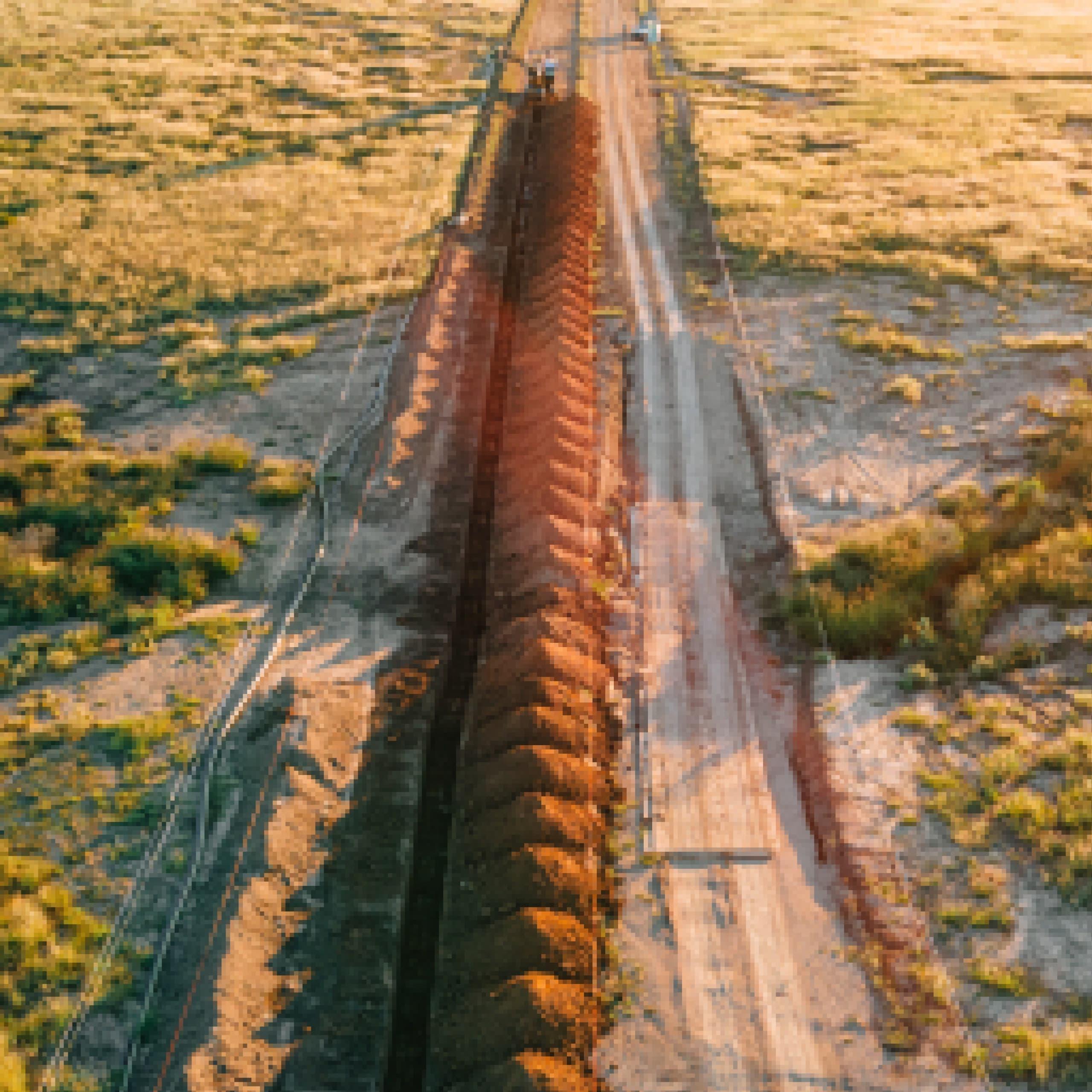 Long trench segment built robotics