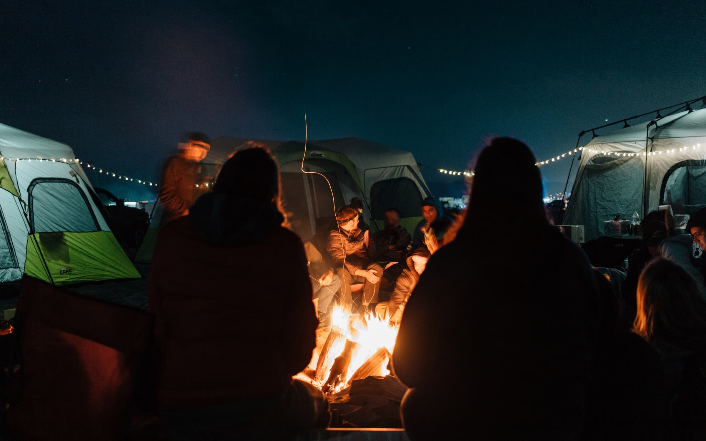 Pismo beach campfire