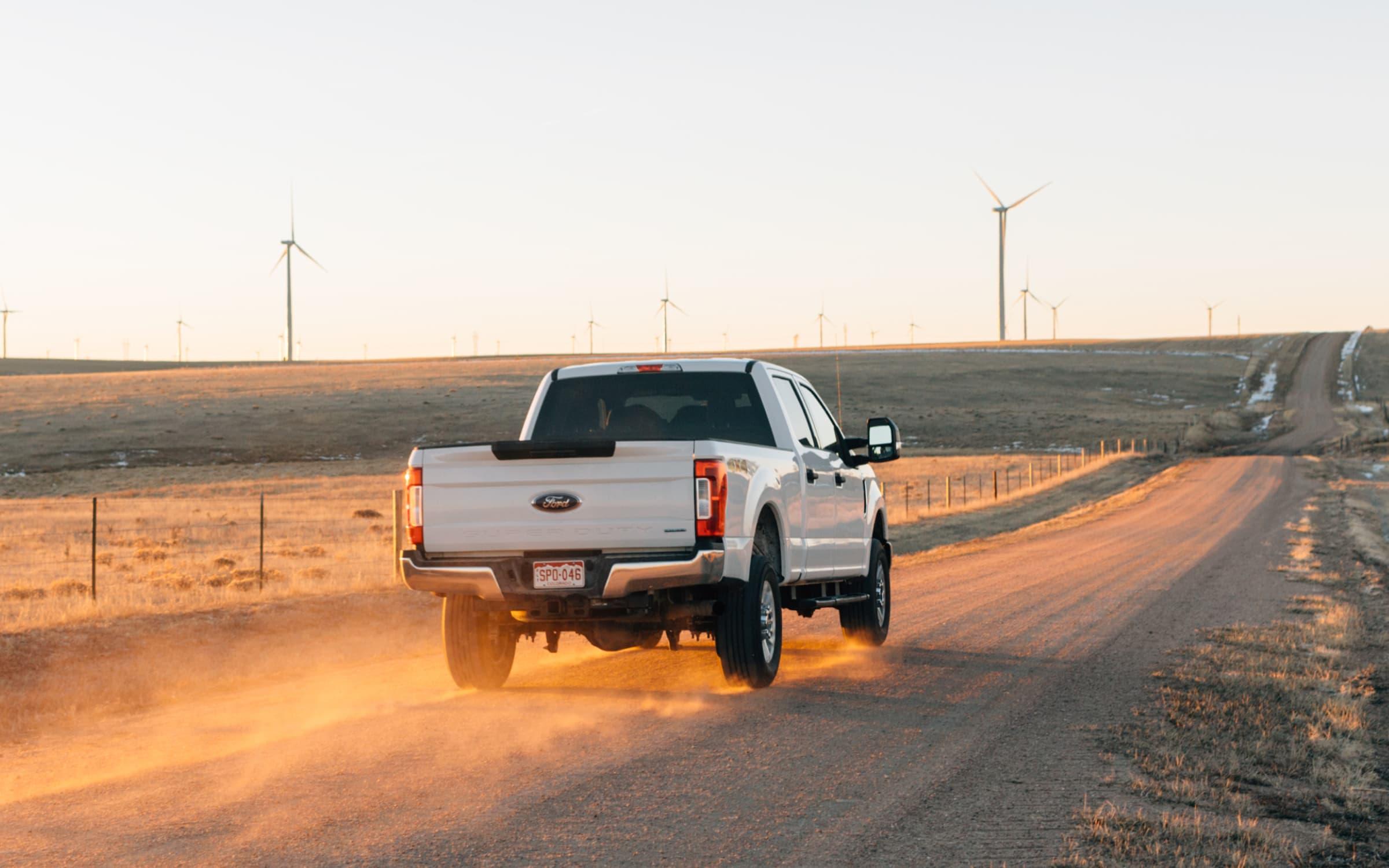 Sunset turbines truck