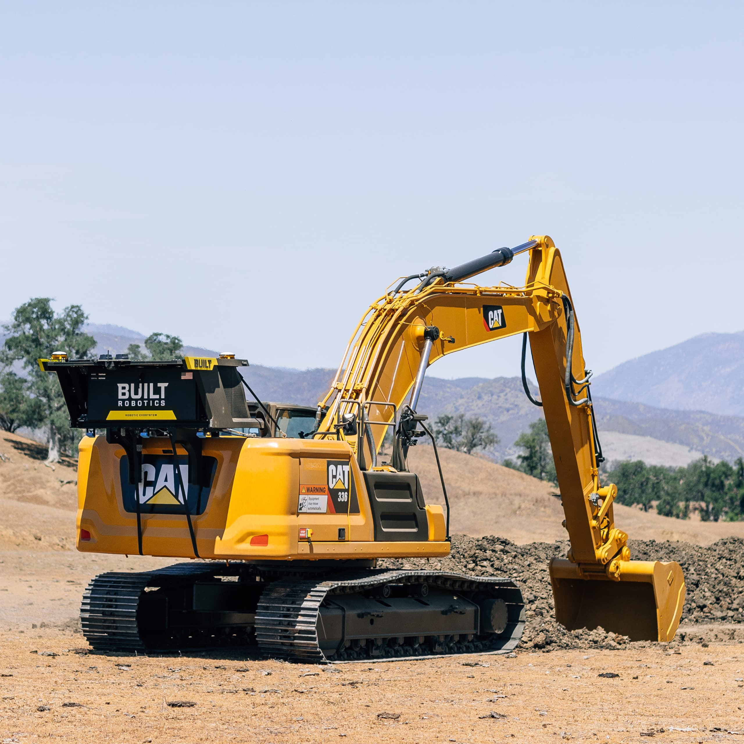 Tail exosystem digging trench autonomously