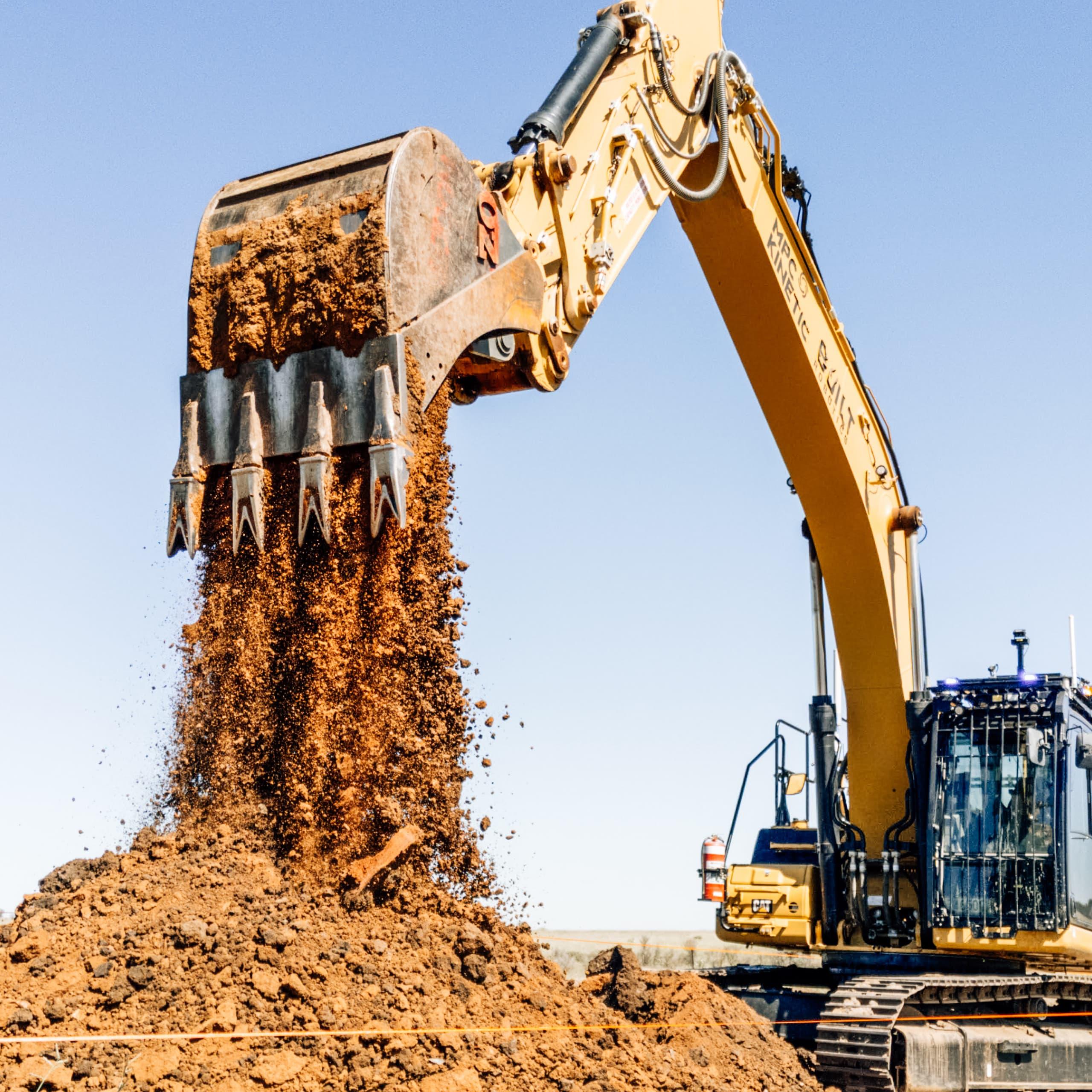 Working excavator uptime