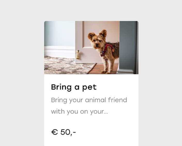 Upsell 6 2x Bring a pet