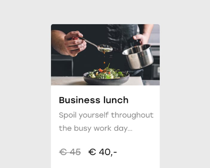 Upsell 7 2x Business lunch