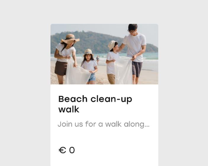 Upsell 9 2x Beach clean up