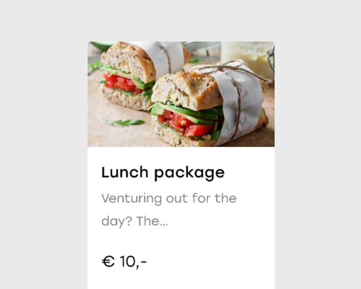 Upsell lunch package 2x