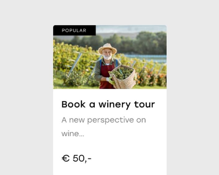 Upsell 2x Wine tour