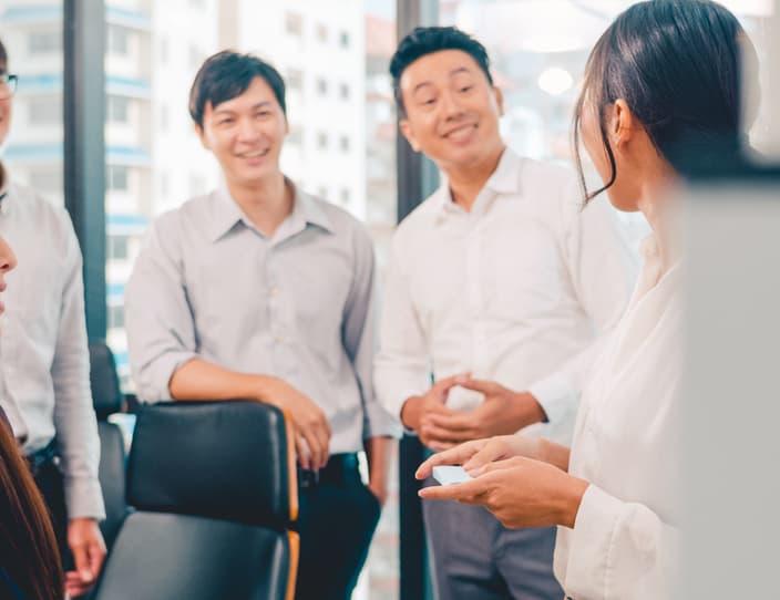 Asia businessmen and businesswomen meeting conduct 24 NXRYR