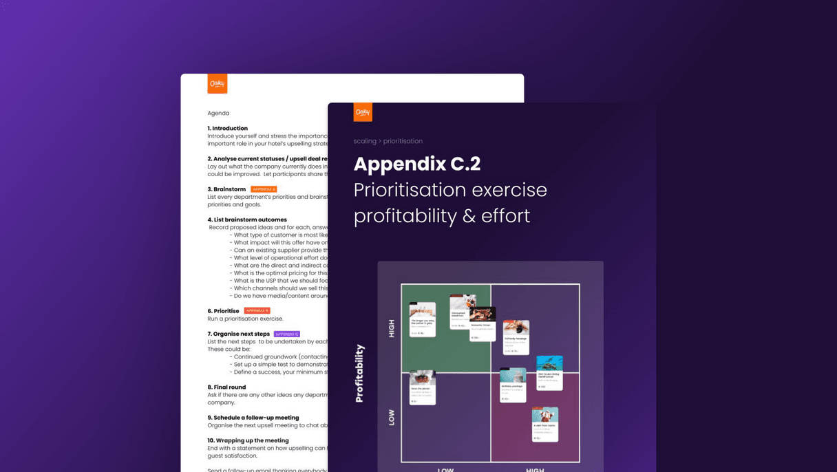 Agenda points for a successful upselling meeting 2x
