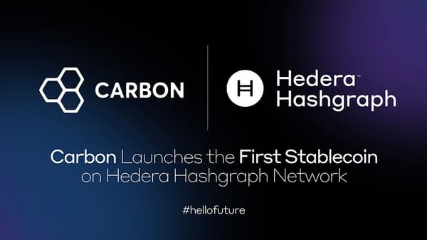 Carbon Launches the First Stablecoin on Hedera Hashgraph Network