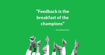 Bild mit Zitat Ken Blachard Breakfast Champions Feedback