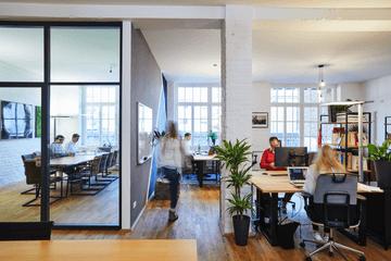 Quiply Büro Blick in Meeting Raum erste Etage