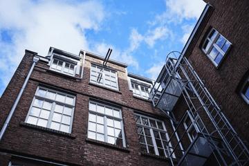 Quiply Büro Draußen Blick in Himmel Köln