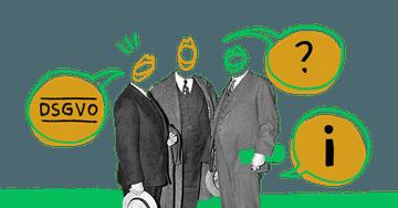 Quiply Mitarbeiter-App Illustration drei Menschen diskutieren zu DSGVO