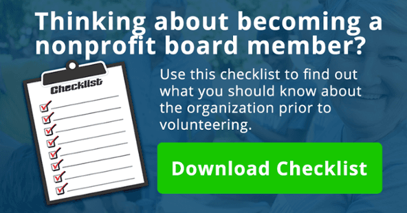 Thinking about becoming a nonprofit board member? Use this checklist to find out what you should know.