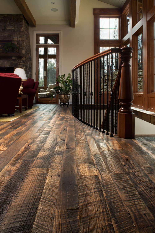 Character Oak Floor at stair landing blk mth nc