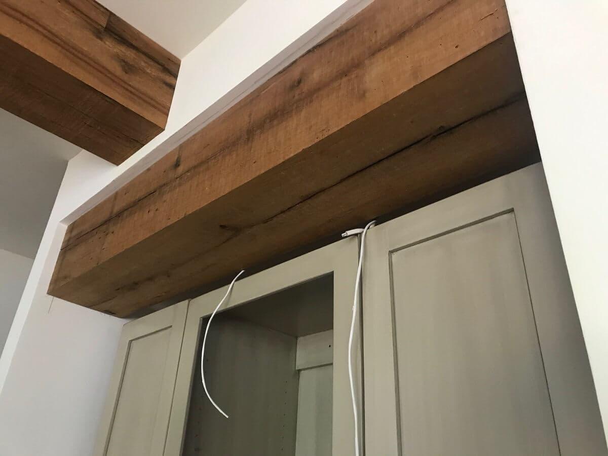 reclaimed Oak Band sawn box beam
