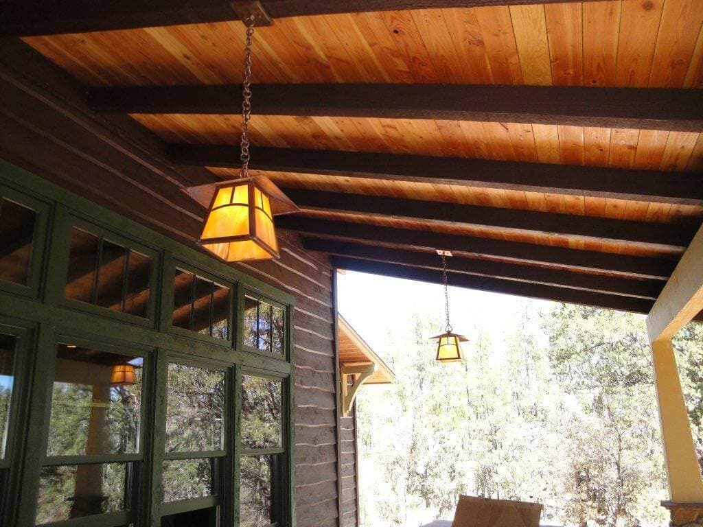 Heart Pine Exterior Ceiling Arizona