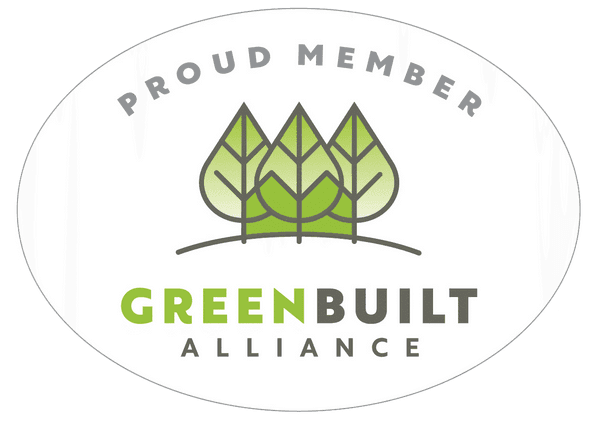 Green Built logo Proud Member