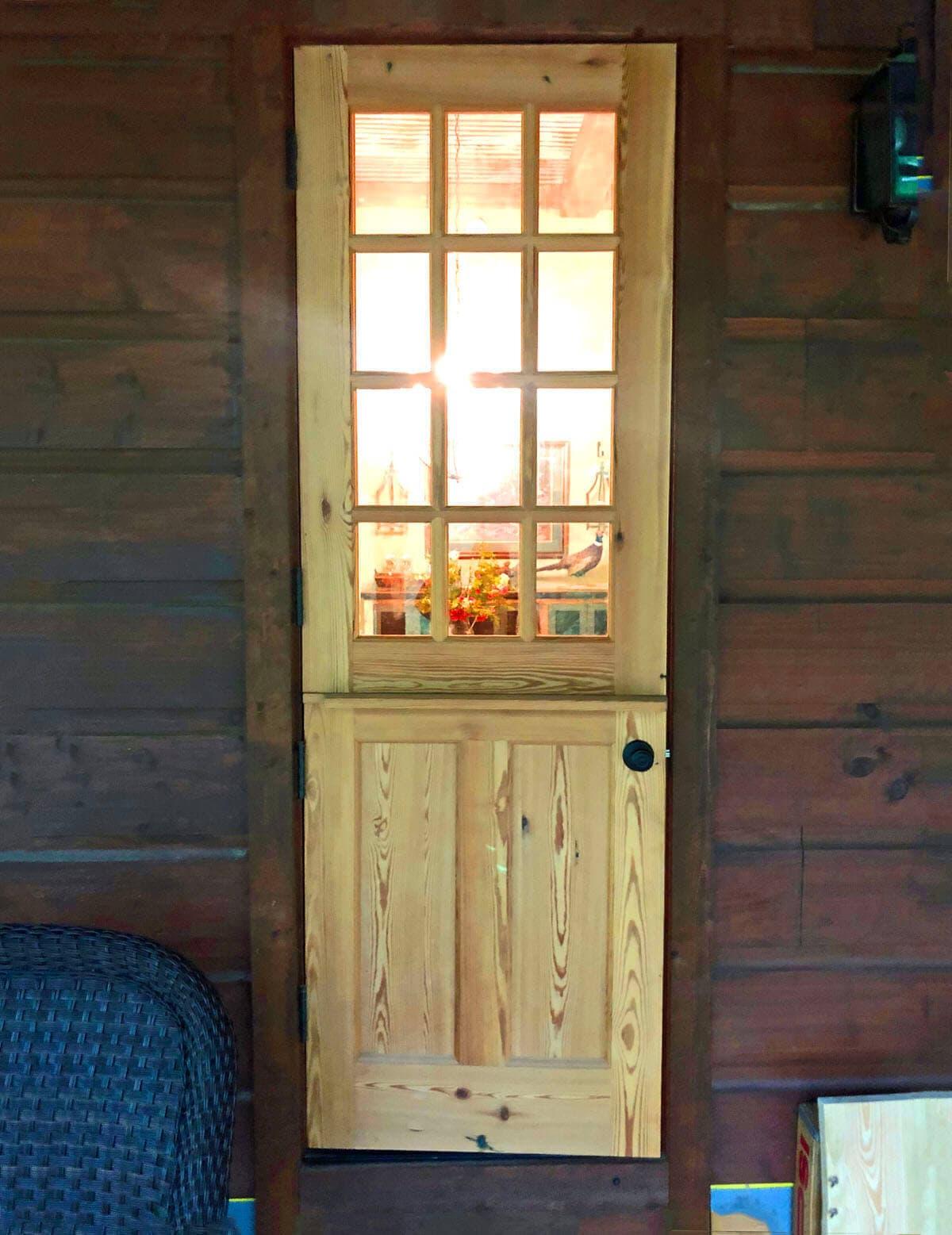 Heart Pine Dutch Entry Door 1