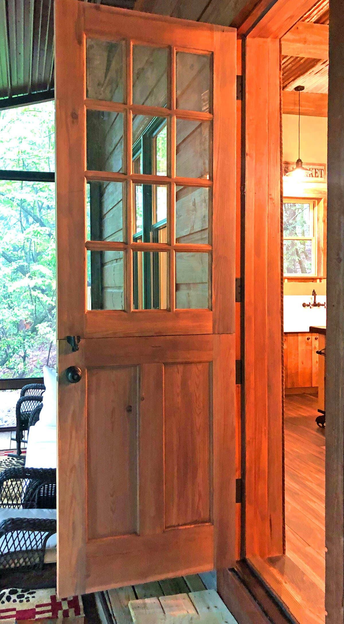 Heart Pine Dutch Entry Door 2