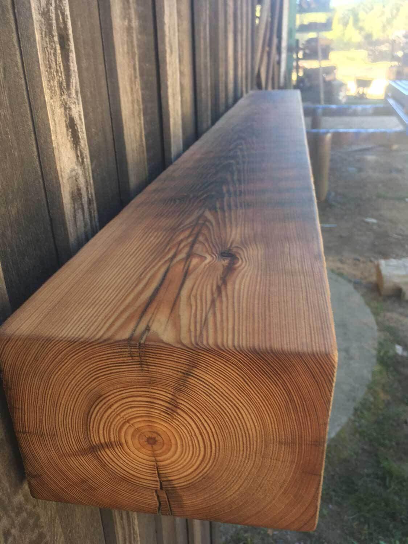 Original Surface Circle Sawn Heart Pine Mantel Oiled Natural