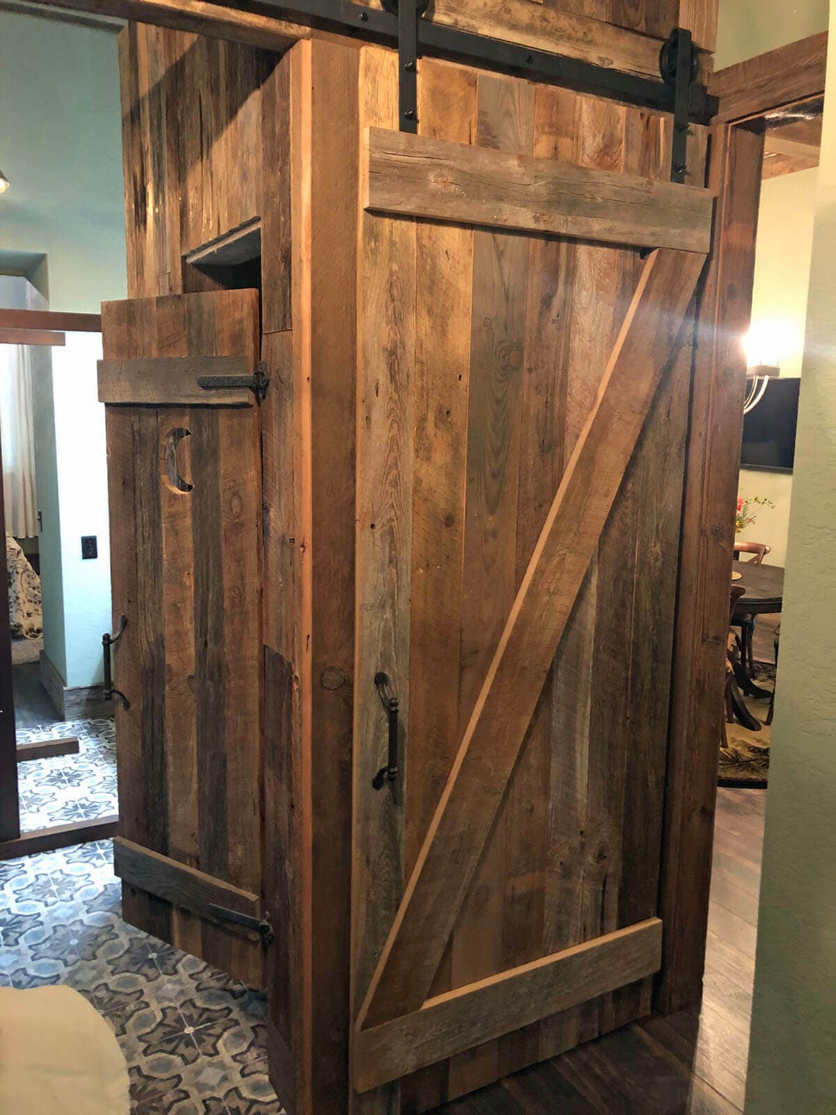 Original Surface Pine Barn Door